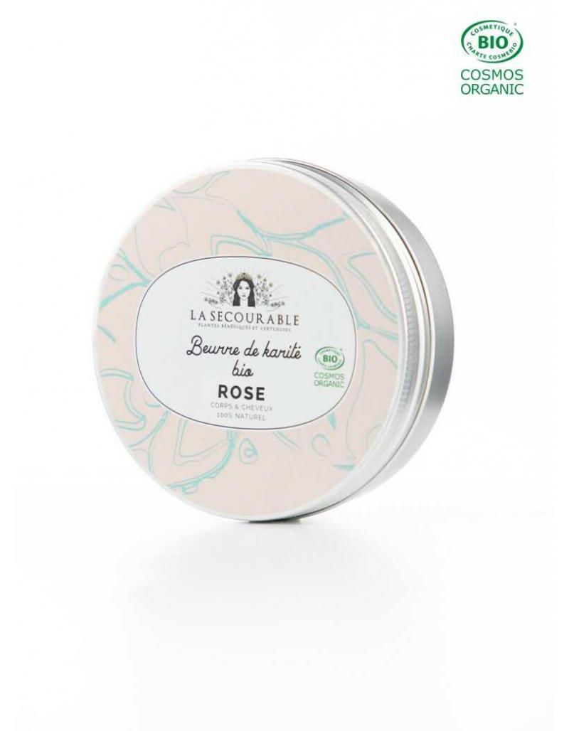 Beurre de karite bio - rose